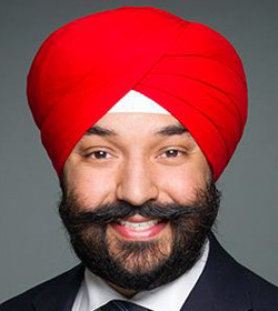 Honourable<br /> Navdeep Bains
